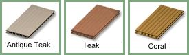 uPVC Compo Wood Decking - Colours