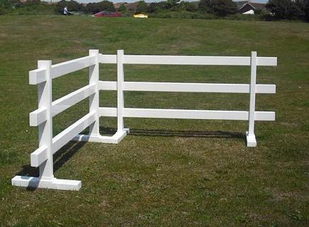 Three Rail uPVC Plastic Temporary Fence